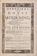 Books:Religion & Theology, Threnoikos. The House of Mourning, Furnished withDirections for Preparations to Meditations of Consolations atth...