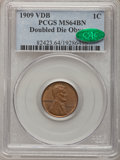 Lincoln Cents, 1909 1C VDB DDO MS64 Brown PCGS. CAC. PCGS Population (10/0). NGCCensus: (7/3). (#82423)...