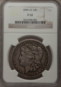 1890-CC $1 Fine 12 NGC. NGC Census: (44/4670). PCGS Population (59/9233). Mintage: 2,309,041. Numismedia Wsl. Price for...