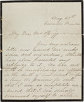 Autographs:U.S. Presidents, Mary Lincoln Autograph Letter Signed on Mourning Stationery. ...