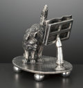 Silver Holloware, American:Napkin Rings, AN AMERICAN SILVER PLATED FIGURAL NAPKIN HOLDER . James W. Tufts,Boston, Massachusetts, circa 1875. Marks: JAMES W. TUFTS...