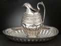 Silver Holloware, Continental:Holloware, A RUSSIAN SILVER EWER AND BASIN . Maker unknown, Moscow, Russia,circa 1826. Assay master Nikolai Lukich Dubrovin. Marks: ...(Total: 2 Items Items)
