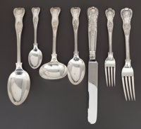 A SEVENTY-FIVE PIECE VICTORIAN SILVER FLATWARE SERVICE Thomas Alfred Slater, Walter Brindsley Slater & Henry Arth