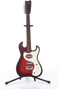 Musical Instruments:Electric Guitars, 1950s Silvertone 1457 Red Burst Electric Guitar, No SerialNumber....