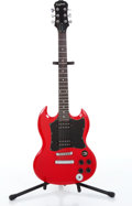Musical Instruments:Electric Guitars, 2004 Epiphone SG Candy Apple Red Electric Guitar Serial#SJ04011346....