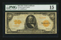 Large Size:Gold Certificates, Fr. 1198 $50 1913 Gold Certificate PMG Choice Fine 15.. ...