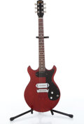 Musical Instruments:Electric Guitars, 1965 Gibson Melody Maker Red Electric Guitar Serial# 282204...