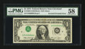 Error Notes:Inverted Third Printings, Fr. 1908-D $1 1974 Federal Reserve Note. PMG Choice About Unc 58.....