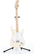 Musical Instruments:Electric Guitars, 1990 Fender Stratocaster Olympic White Autographed By GarbageElectric Guitar Serial# MN590632....