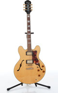 Musical Instruments:Electric Guitars, 1991 Epiphone Gibson Sheraton II Natural Electric Guitar Serial#1061868....