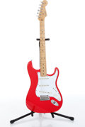 Musical Instruments:Electric Guitars, 2001 Fender Delux American Stratocaster Red Electric Guitar Serial#Z1016008....