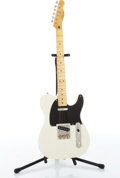 Musical Instruments:Electric Guitars, 2009 Fender Squier Telecaster Olympic White Electric Guitar Serial#CGS0908992....