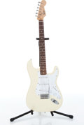 Musical Instruments:Electric Guitars, 2007 Squier Bullet Stratocaster Olympic White Electric GuitarSerial# COB071018100...