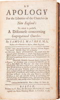 Books:Religion & Theology, Samuel Mather. An Apology for the Liberties of the Churches in New England....