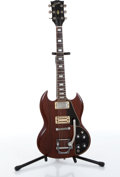 Musical Instruments:Electric Guitars, 1985 Gibson SG Dark Oak Electric Guitar Serial# 825050....