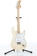Musical Instruments:Electric Guitars, 1984 Fender Squier Stratocaster Olympic White Electric GuitarSerial# SQ55011....