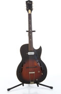 Musical Instruments:Electric Guitars, 1960's Kay Two-Tone Brown Archtop Electric Guitar # N/A....
