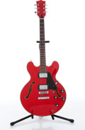 Musical Instruments:Electric Guitars, 2000s Dixon Gibson ES Copy Red Electric Guitar Serial# DE65R....