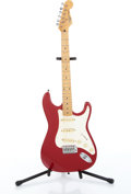 Musical Instruments:Electric Guitars, 1995 Fender Squier II Stratocaster Red Electric Guitar Serial#S926238....