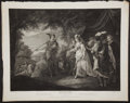 Antiques:Posters & Prints, John Boydell. Wonderful Engraved Print Depicting a Scene fromLove's Labor's Lost by Shakespeare. [London]: 1793...