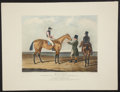 Antiques:Posters & Prints, J. F. Herring. Striking Hand-Colored Engraving of British Race Horse. Matilda, the Winner of the Great St. Leger Stakes ...