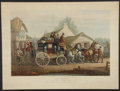 Books:Prints & Leaves, C. C. Henderson. Striking Reproduction of Aquatint With Horses andCarriage. Philadelphia: [ca. 1970]. General mild toning. ...