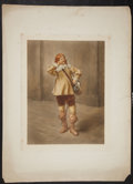 Antiques:Posters & Prints, Wonderful Color Mezzotint of Musketeer. London, 1918. Light toning and foxing, with several small tears along borders. Appro...