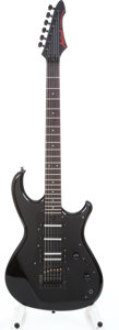 Musical Instruments:Electric Guitars, 1990s Aria Pro 2 Knight Warrior Black Electric Guitar Serial#5073117....