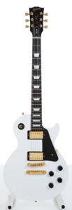 Musical Instruments:Electric Guitars, 1995 Gibson Les Paul Studio White Electric Guitar Serial#031360659....