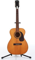 Musical Instruments:Acoustic Guitars, 1960s Harmony H162 Natural Acoustic Folk Guitar....