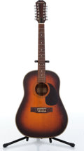 Musical Instruments:Acoustic Guitars, 1980s Epiphone PR-650 Natural Burst 12 String Acoustic Guitar Serial# 08826...