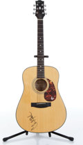 Musical Instruments:Acoustic Guitars, 1990 Epiphone PR350 Natural Acoustic Guitar Autographed By Clint Black Serial# 0060969....