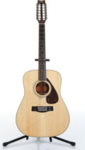Musical Instruments:Acoustic Guitars, 1980s Yamaha PF12-301 Natural 12 String Folk Acoustic GuitarSerial# 60803...