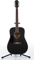 Musical Instruments:Acoustic Guitars, 2000s Aria AW-20 Black Acoustic Guitar....