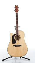 Musical Instruments:Acoustic Guitars, Washburn D10CS Lefty Natural Acoustic Guitar Serial#CC090825545....