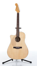 Musical Instruments:Acoustic Guitars, Fender Sonoran SCE Lefty Natural Electric Acoustic Guitar Serial#CSE 09003931....