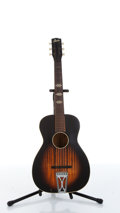 Musical Instruments:Acoustic Guitars, 1957 Stella H929 Sunburst Vertical Faux Flame Acoustic GuitarSerial# 4663 ...