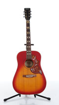 Musical Instruments:Acoustic Guitars, 1970s Hondo II H180A Hummingbird Redburst Acoustic Guitar....