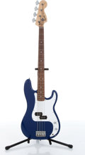 Musical Instruments:Bass Guitars, 2000 Squire By Fender P-Bass Affinity Blue Electric Bass Serial# CY00112062....
