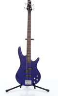Musical Instruments:Bass Guitars, 2008 Ibanez GSR200 Soundgear Blue Electric Bass Serial#I080342514....