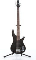 Musical Instruments:Bass Guitars, 2004 Soundgear by Ibanez SDGR SR305DX 5-String Black Electric Bass Guitar Serial# I040516887...
