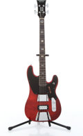 Musical Instruments:Bass Guitars, 1970s Ampeg Big Stud GEB 750 Red Electric Bass Guitar, No Visible Serial#....