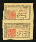 Colonial Notes:New Jersey, New Jersey March 25, 1776 3s and 6s Vertical Pair About New....
