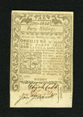 Colonial Notes:Rhode Island, Rhode Island May 1786 40s Gem New. A lovely example of this laterdate Rhode Island note that, despite an average left margi...