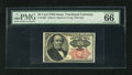 Fractional Currency:Fifth Issue, Fr. 1308 25c Fifth Issue PMG Gem Uncirculated 66EPQ. A somewhat scarcer long key Walker that has incredible ink color and wo...