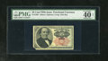 "Fractional Currency:Fifth Issue, Fr. 1308 25c Fifth Issue PMG Extremely Fine 40 Net. The labelstates ""corner missing.""..."