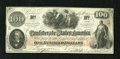 Confederate Notes:1862 Issues, T41 $100 1862. This bright $100 is printed on CSA block watermarkedpaper. Very Fine....