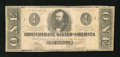 Confederate Notes:1862 Issues, T55 $1 1862. This is an evenly circulated note with nice edges forthe grade. Fine....