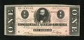 Confederate Notes:1864 Issues, T71 $1 1864. Dark inks are a merit of this delightful $1. Crisp Uncirculated....