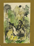 Texas:Early Texas Art - Impressionists, JOSEPHINE MAHAFFEY (American, 1903-1982). Untitled. Mixed media onpaper, mounted on mat board. 8.5in. x 6-3/8in.. ...